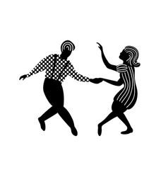 Swing dance couple people vector
