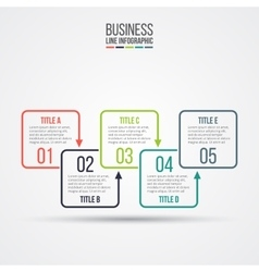 Thin line flat elements for infographic vector image