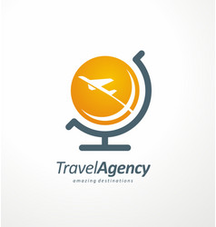 Travel agency logo design idea vector