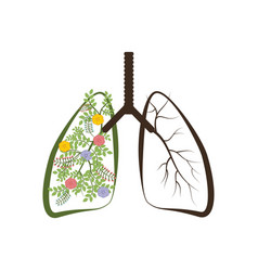 Trees are the lungs of the earth vector