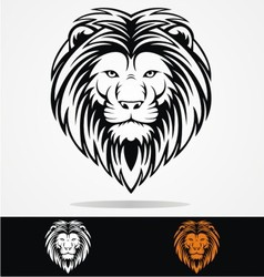 Tribal Lions Head vector image