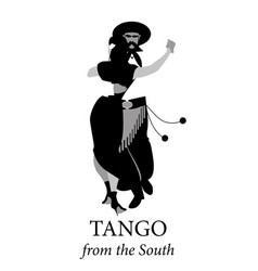 Typical couple from south america dancing tango vector