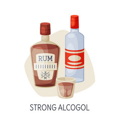 Unhealthy food for brain strong alcohol drinks vector