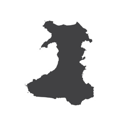 Wales map silhouette vector