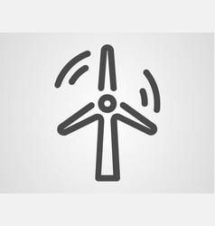 windmill icon sign symbol vector image