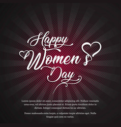 Womens day card with elegent vintage disign vector