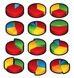 Pie Graphs vector image