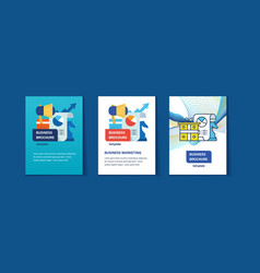business marketing management and planning vector image