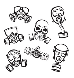 gas masks vector image vector image