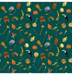 Hand-drawn seamless african pattern vector image