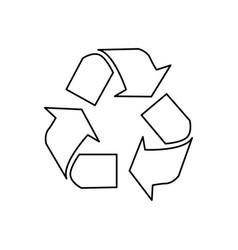 recycle arrows symbol icon vector image vector image