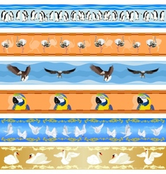 Seamless background with birds vector image vector image