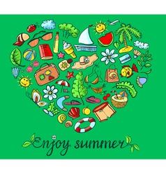 Summer heart vector image