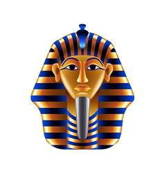 Tutankhamuns mask isolated on white vector image
