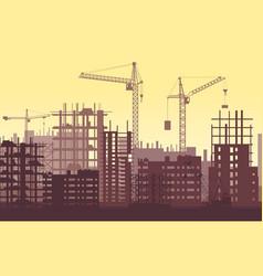 buildings under construction in process urban vector image