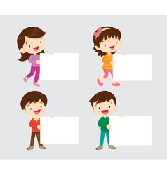 Children with board vector image vector image