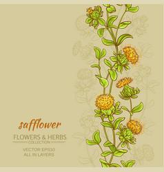 Safflower color background vector