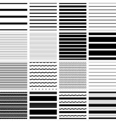 Set of seamless striped backgrounds vector image