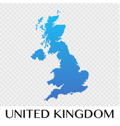 united kingdom map in europe continent design vector image vector image