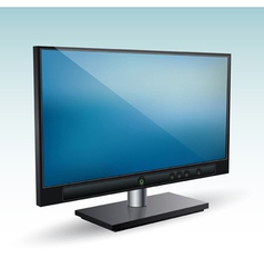 3d computer monitor vector image vector image