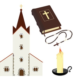 Christian set vector image