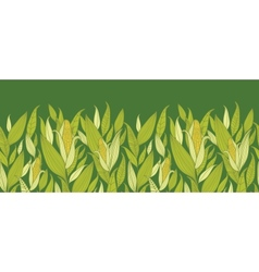 Corn plants horizontal seamless pattern background vector image