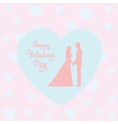 couple love heart vector image vector image