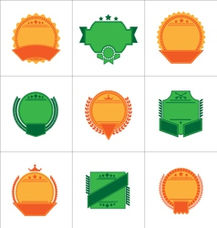Set of flat badges and ribbons vector image