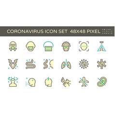 20200125 coronavirus icon green vector image