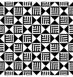 Abstract Black and White Seamless Pattern Line vector image