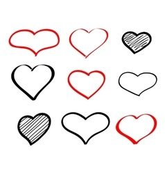 Abstract hand-drawn doodle heart vector