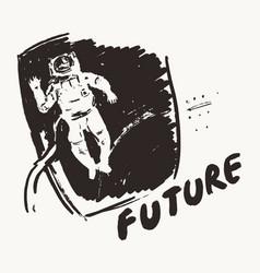 Astronaut open space future exploration vector