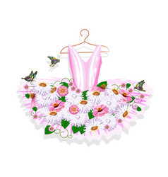 Ballet tutu on a hanger vector