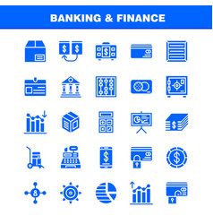 banking solid glyph icon pack for designers and vector image