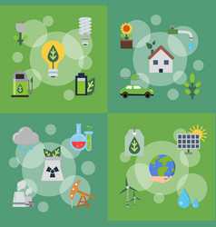 banners set with ecology vector image