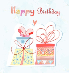 birthday present vector image