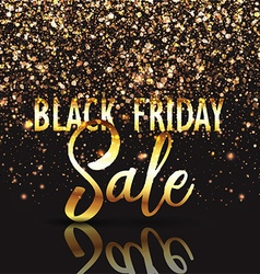 Black friday gold confetti background 2309 vector