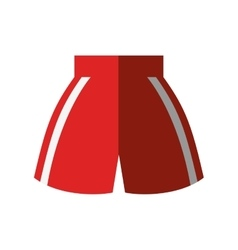 boxing shorts uniform isolated icon vector image