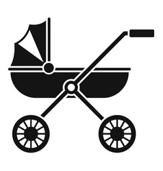brand baby pram icon simple style vector image