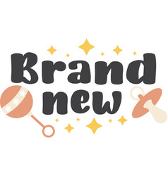 Brand new on white background vector