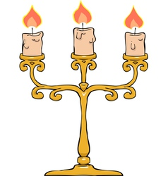 Candlestick trident vector