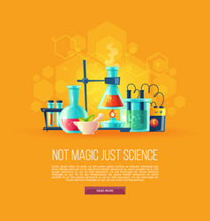 cartoon set chemical equipment vector image