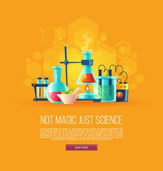 Cartoon set of chemical equipment vector