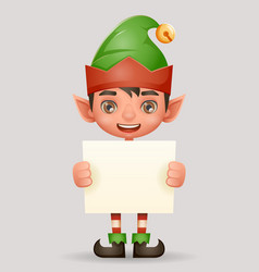 christmas poster advert broadsheet elf boy santa vector image