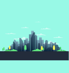 city in the summer vector image