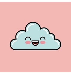 cloud kawaii icon design vector image