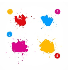 Colorful Splashes Set vector
