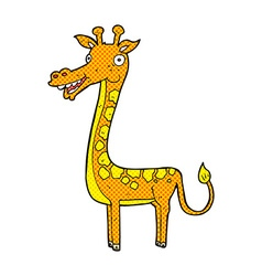 Comic cartoon giraffe vector