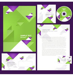 corporate identity template geometric triangles vector image