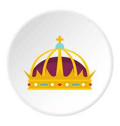 Crown icon circle vector